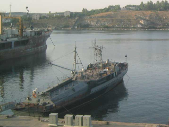 Russian Black Sea Fleet Shelon class service craft in Sevastopol