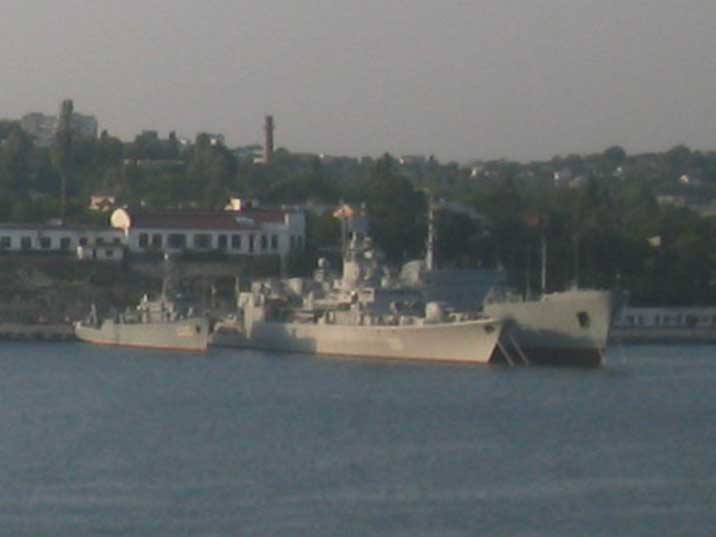 U130 Hetman Sahaydachniy and the U500 Donbas command ship