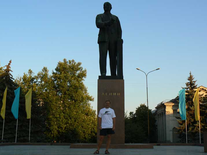 Lenin still stands proudly in the Crimean capital Simferopol