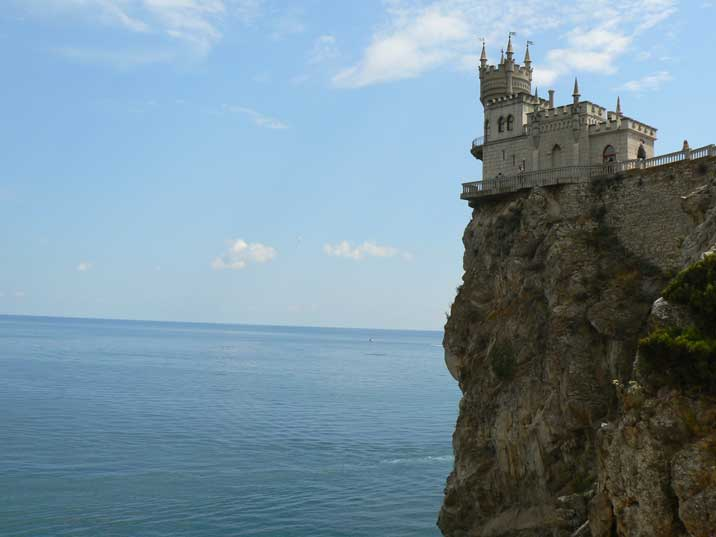 Swallows Nest on a hills is the most famous Crimean landmark