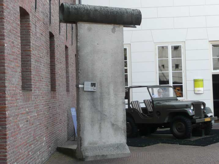 Section of the Berlin wall displayed outside the Dutch Army Museum