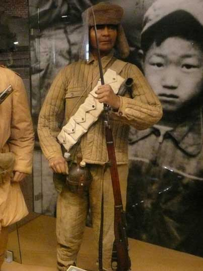 Infantry solider of the Chinese People's Volunteer Army in Korea