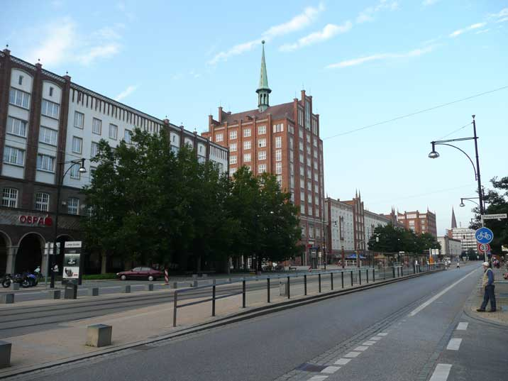 Hochhaus building from the fifties at Rostock's main street