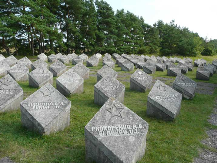 Graves for 200 fallen Red Army soldiers on Saaremaa Island