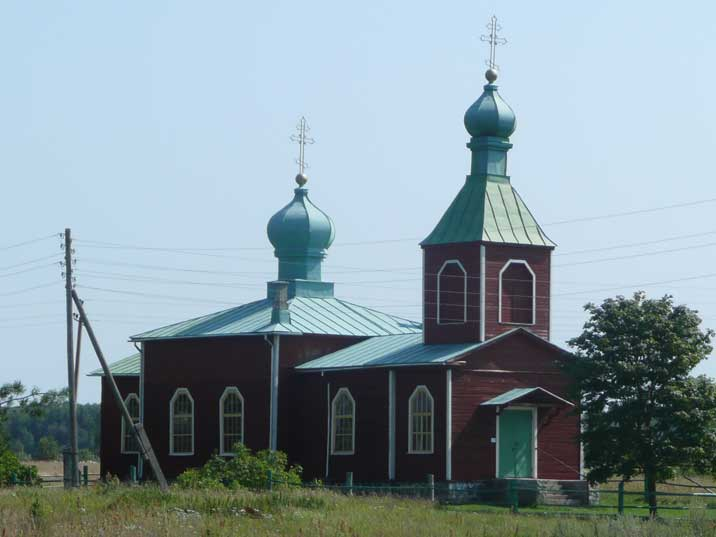 One of many wooden orthodox churches on Saaremaa Island