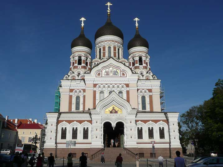 The Alexander Nevsky Cathedral on Toompea hill in Tallinn