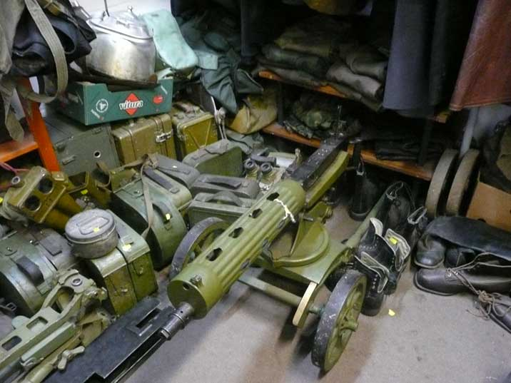Red army equipment for sale including a Russian Maxim gun