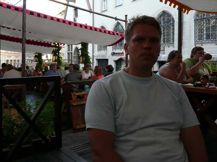 Terrace of the excellent Olde Hansa Restaurant in Tallinn
