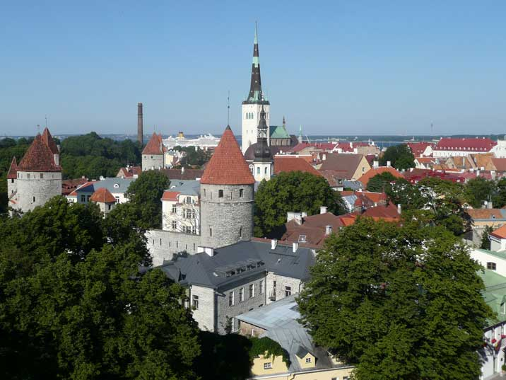 View on the old city of Tallinn from the Patkulie viewpoint
