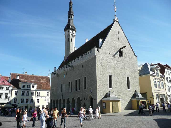 Tallinn Town Hall on Raekoja Plats in the old town area