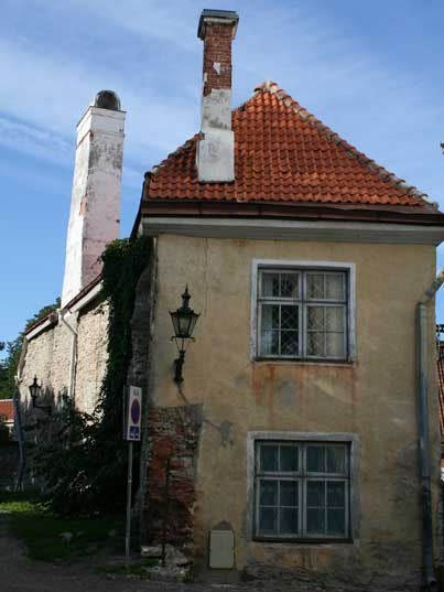 Old house on picturesque Toompea hill in Tallinn Estonia