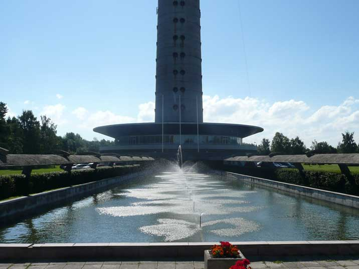 Fountains as part of the entrance of the Tallinn TV Tower