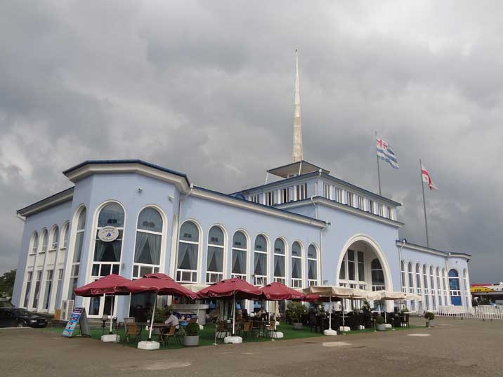 The Soviet era Port Terminal of Batumi from where ferries and Hydrofoils depart to Russia, Turkey and Abkhazia