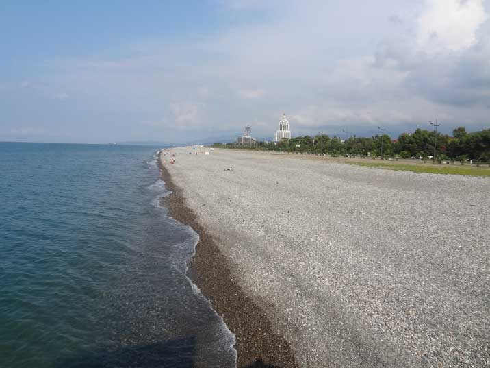 The Batumi beaches have lost their Soviet cosiness but are still a great place for swimming and sunbathing