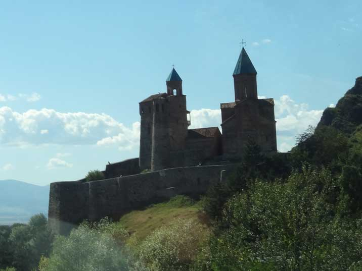 The royal citadel and the Church of the Archangels on a hill in Kakheti dating back to the 16th century