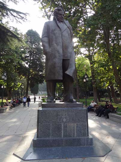 Statue of Giorgi Leonidze a Georgian poet who conformed to correct political line as demanded from Soviet artists