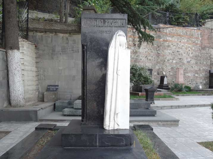 The grave of Ketevan Geladze, Stalin's mother at Mtatsminda Pantheon where many important Georgians are buried