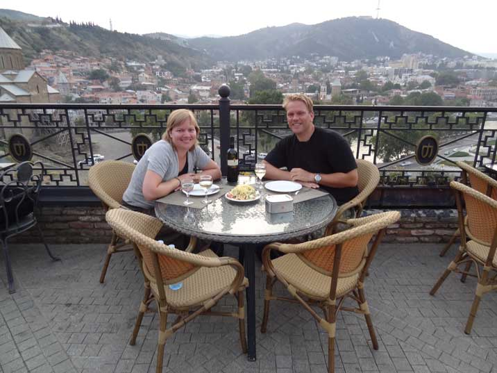 Rice and Saakashvili also had dinner on the terrace of the Kopala Restaurant just before the South Ossetia War