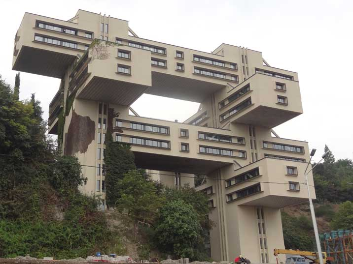 The former Soviet Roads Ministry Building in Tbilisi, finished in 1975 is a prime example of great Soviet architecture