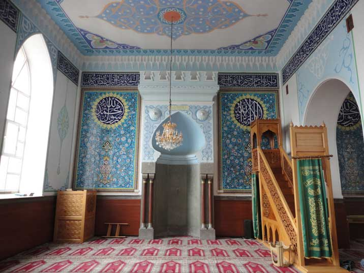 The interior of the only functioning Mosque in Tbilisi build in the 19th century on the ruins of a destroyed mosque