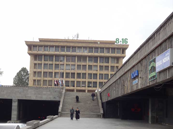 Part of the former Republic Square constructed in 1983, renamed to Rose Revolution Square after the revolution in 2005