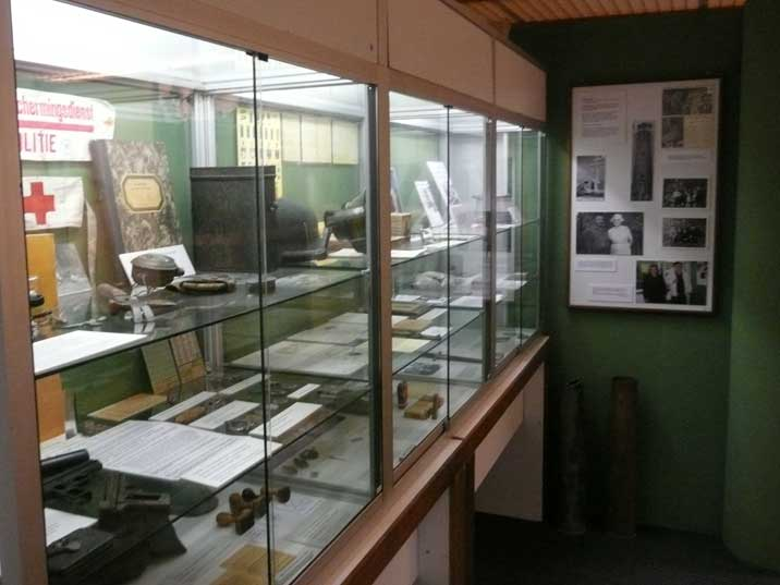 Various artefacts reminding of the German occupation of Texel
