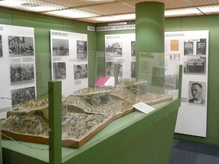 Scale model of the bunkers that were fought over during the battle