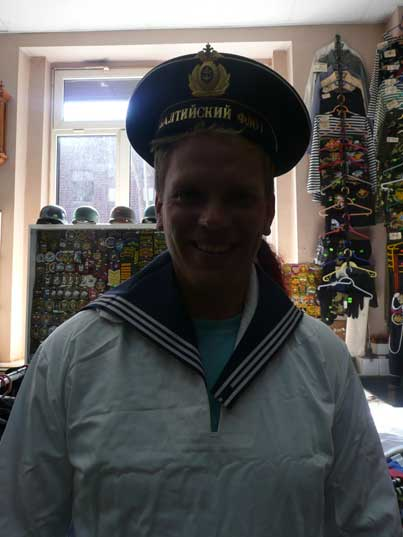 Buy a Baltic Fleet navy outfit in the Kaliningrad Collectors shop