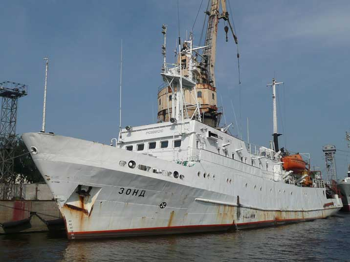 Zond Research Vessel build in 1987 in the Kaliningrad harbour