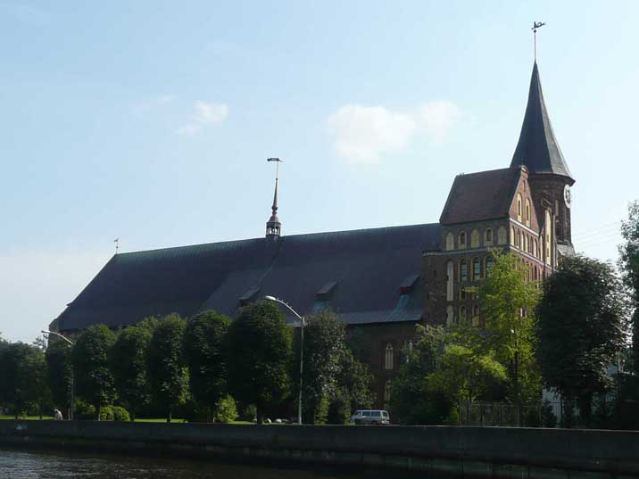 The Koningsberg cathedral on Kneiphof island in Kaliningrad