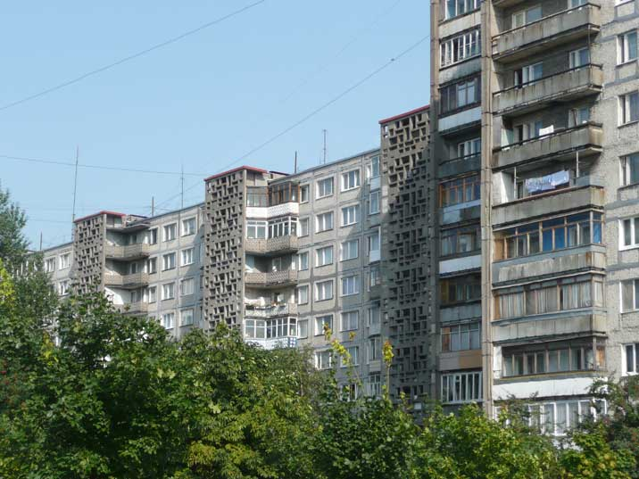 Residential buildings from the Soviet era in Kaliningrad