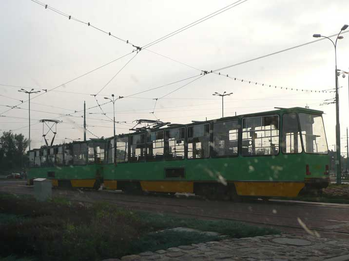 Konstal 105N (Polish built copy of Tatra) tram in Poznan