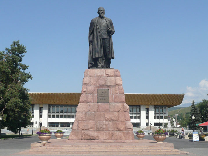 Statue of Abai Qunanbaiuli, a great Kazakh poet, composer and philosopher