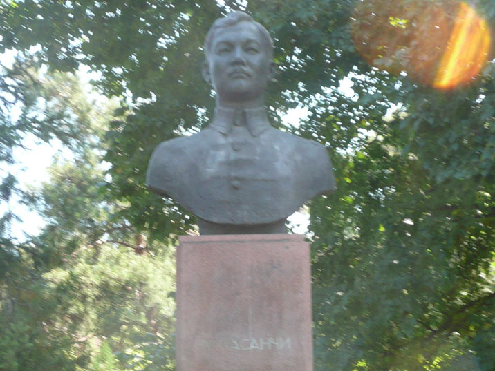 Bust of Magazy Masanchi, a Soviet revolutionary active during the Civil War in Kazakhstan