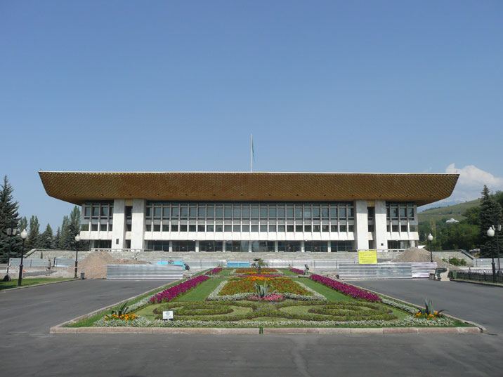 The Almaty Soviet Palace of the republic, now an empty building