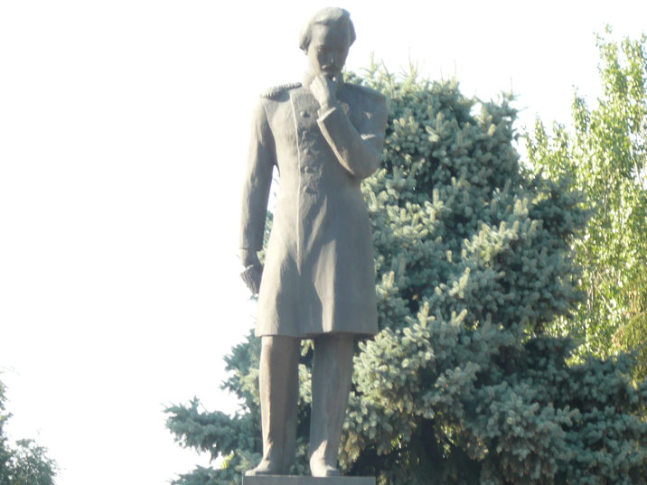 Statue of Shoqan Walikhanov, a Kazakh scholar, ethnographer, historian and participant of The Great Game