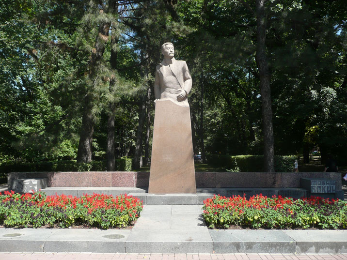 Memorial to Tokash Bokin, born a nomad and participant in the struggle for Soviet power in Kazakhstan