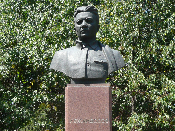 Bust of Uraz Dzhandosov who fought for the Soviets during the civil war and became a communist leader