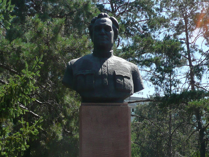 Bust of Valerian Kuybyshev, a Soviet politician who held many high post and was a member of the Politburo