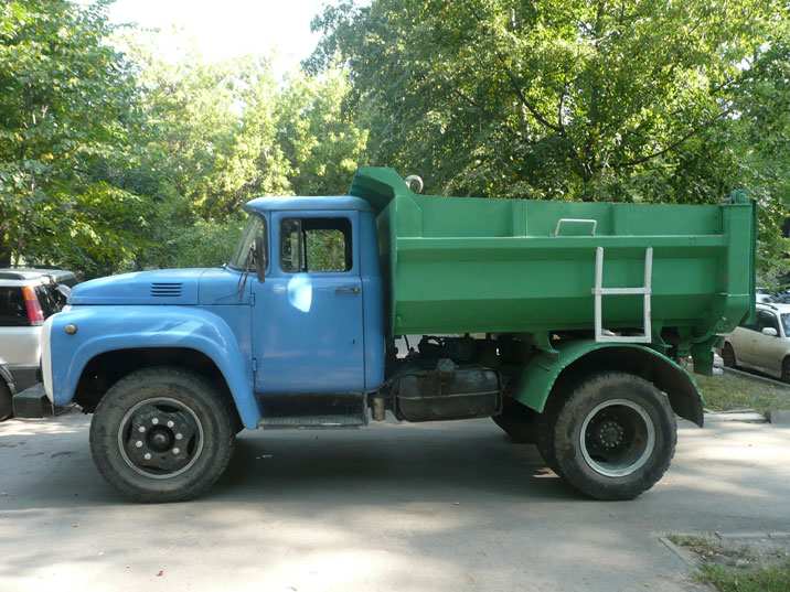 A ZIL-130 dump truck, seen in the streets of Almaty