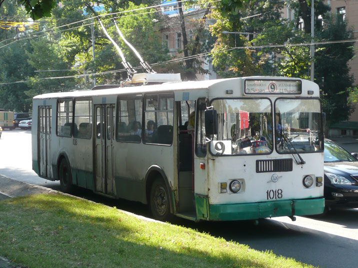 ZiU-9G trolleybus in the streets of Almaty, the most numerous produced trolleybus vehicle in the world