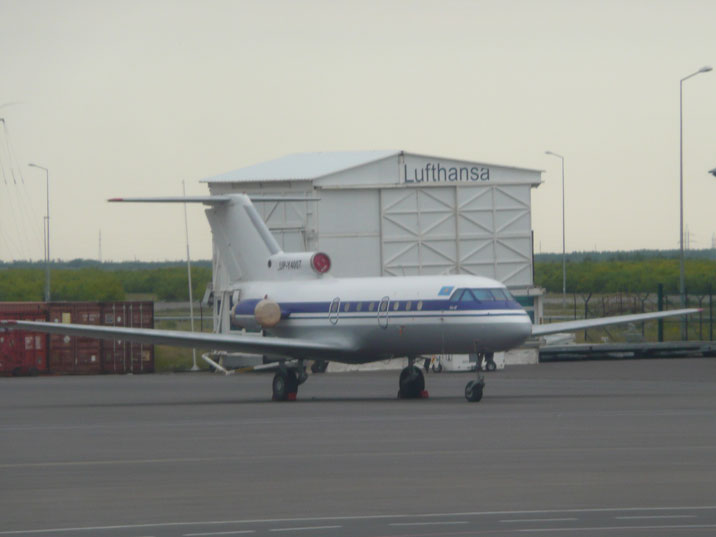 Private Yakovlev Yak-40 with number UP-Y4007 on the tarmac of Astana Airport