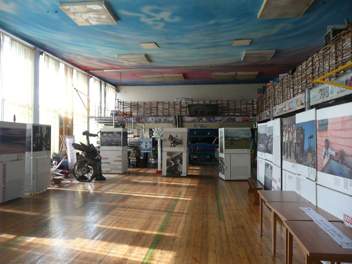 The Karaganda ecology museum combines items about industry, nature, spaceflight and nuclear testing