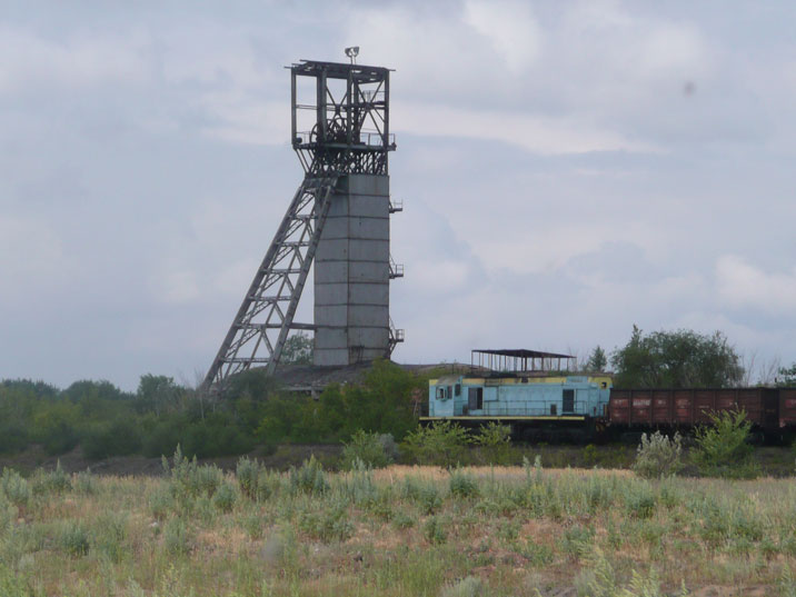 The Kirovskaya mine is one of many Soviet era mines in the Karaganda coal basin
