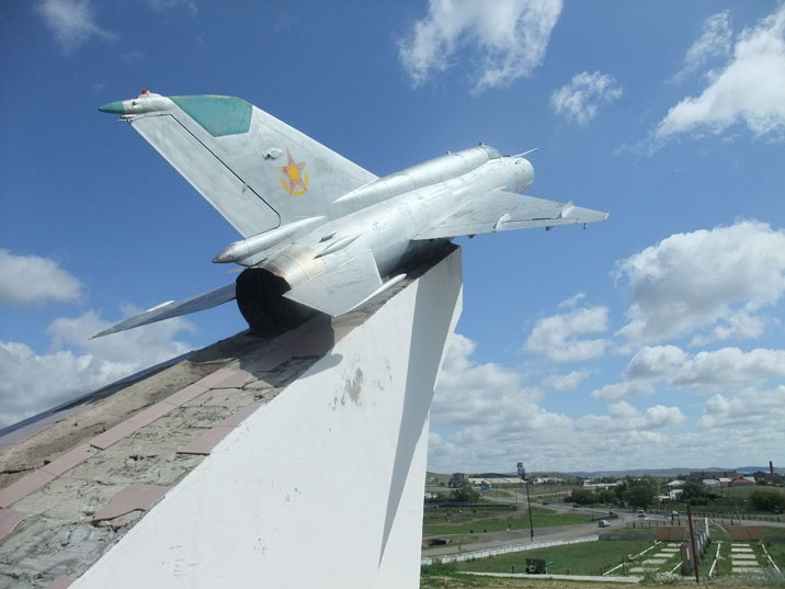 Rumor has it that Kazakhstan sold 40 of it's MiG-21s to North Korea, however, this one is still in the country