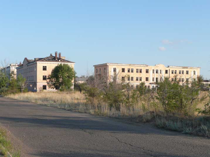 Buildings in Kurchatov where nuclear scientists used to live