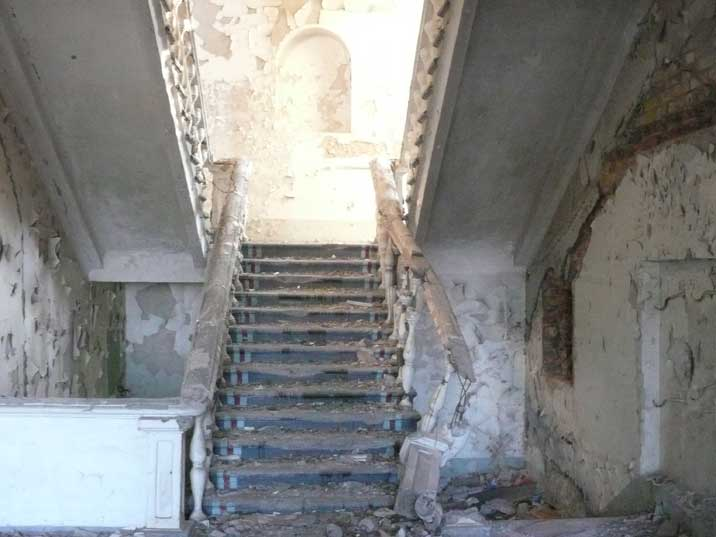 Inside a military building abandoned long time ago in Kurchatov