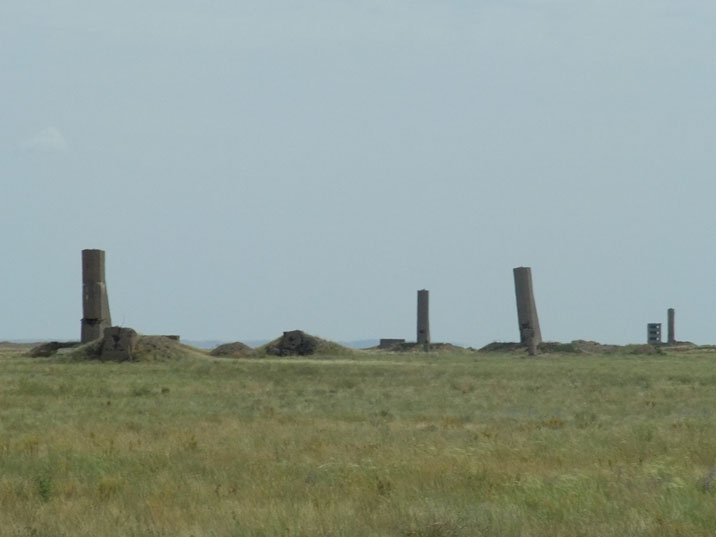 Concrete constructions on the Opytnoe Pole test site, all sorts of impact of a nuclear explosion was measured