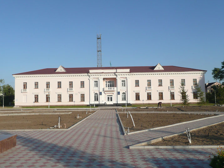 The Semipalatinsk test site museum on the main square of Kurchatov