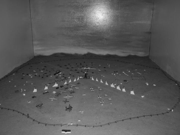 Diorama of the Semipalatinsk test site in preparation for the fist Soviet detonation of an atomic bomb